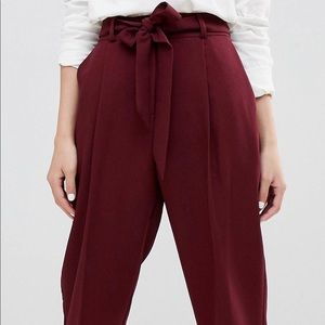 ASOS Peg Pants with Tie